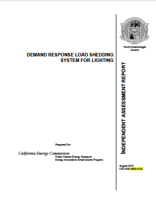 Demand Response Load Shedding System for Lighting